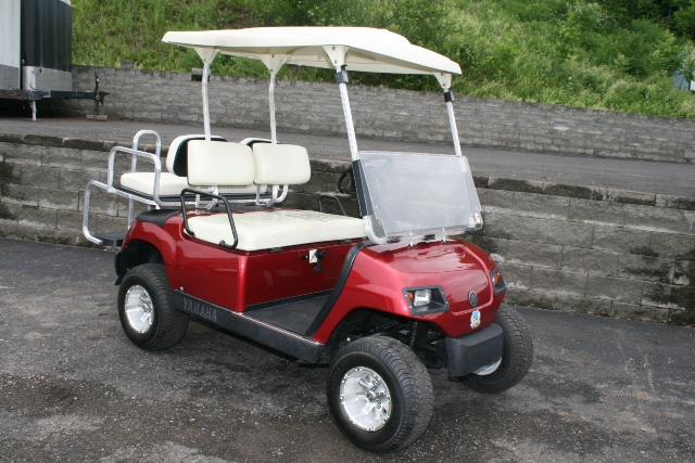 Rear golf cart seat end of year blow out sale ezgo txt for Yamaha golf cart gas vs electric